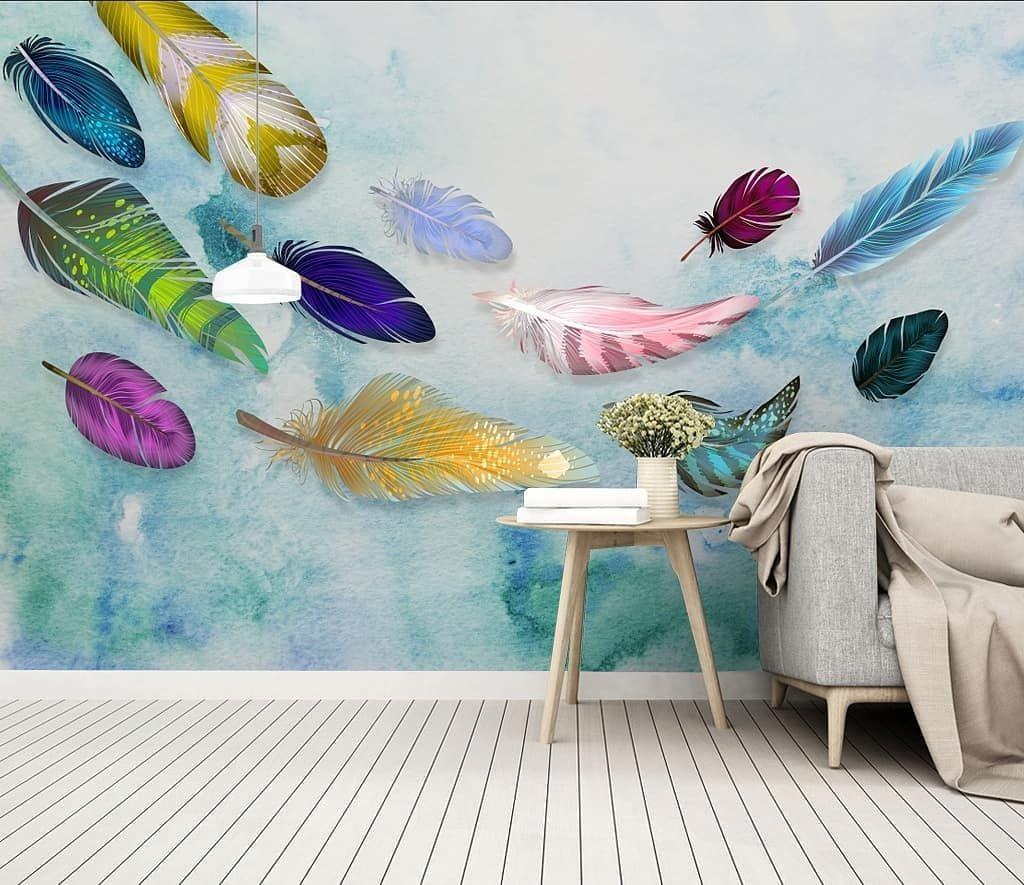 New The 10 Best Home Decor With Pictures ورق جدران ثلاثي الأبعاد خامة ألمانية عالية الجودة مقاومة للرطوبة والحرار Mural Wallpaper Wallpaper Feather Wall