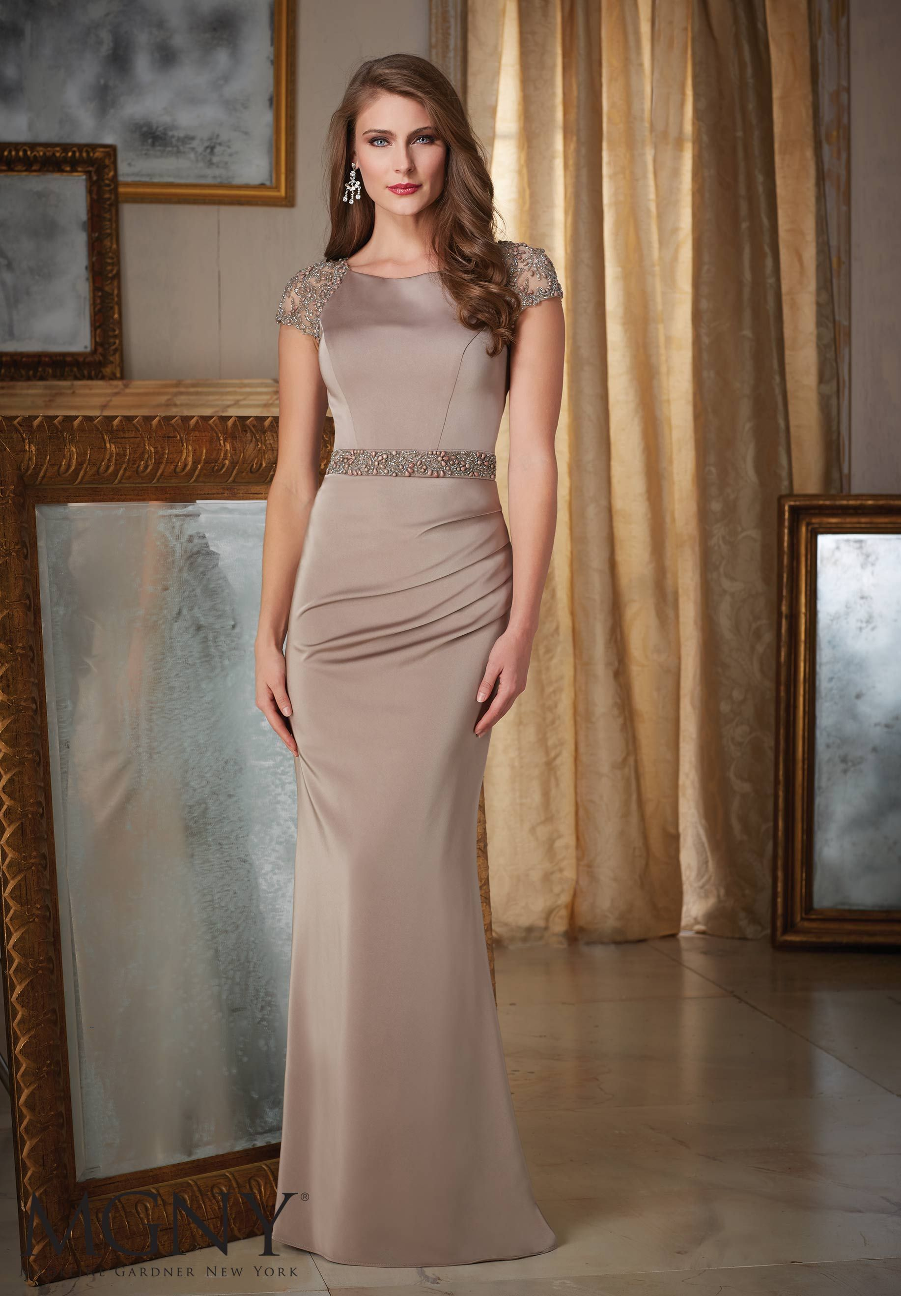 fd779cd250 Evening Gown 71426 Jeweled Beading on Silky Crepe