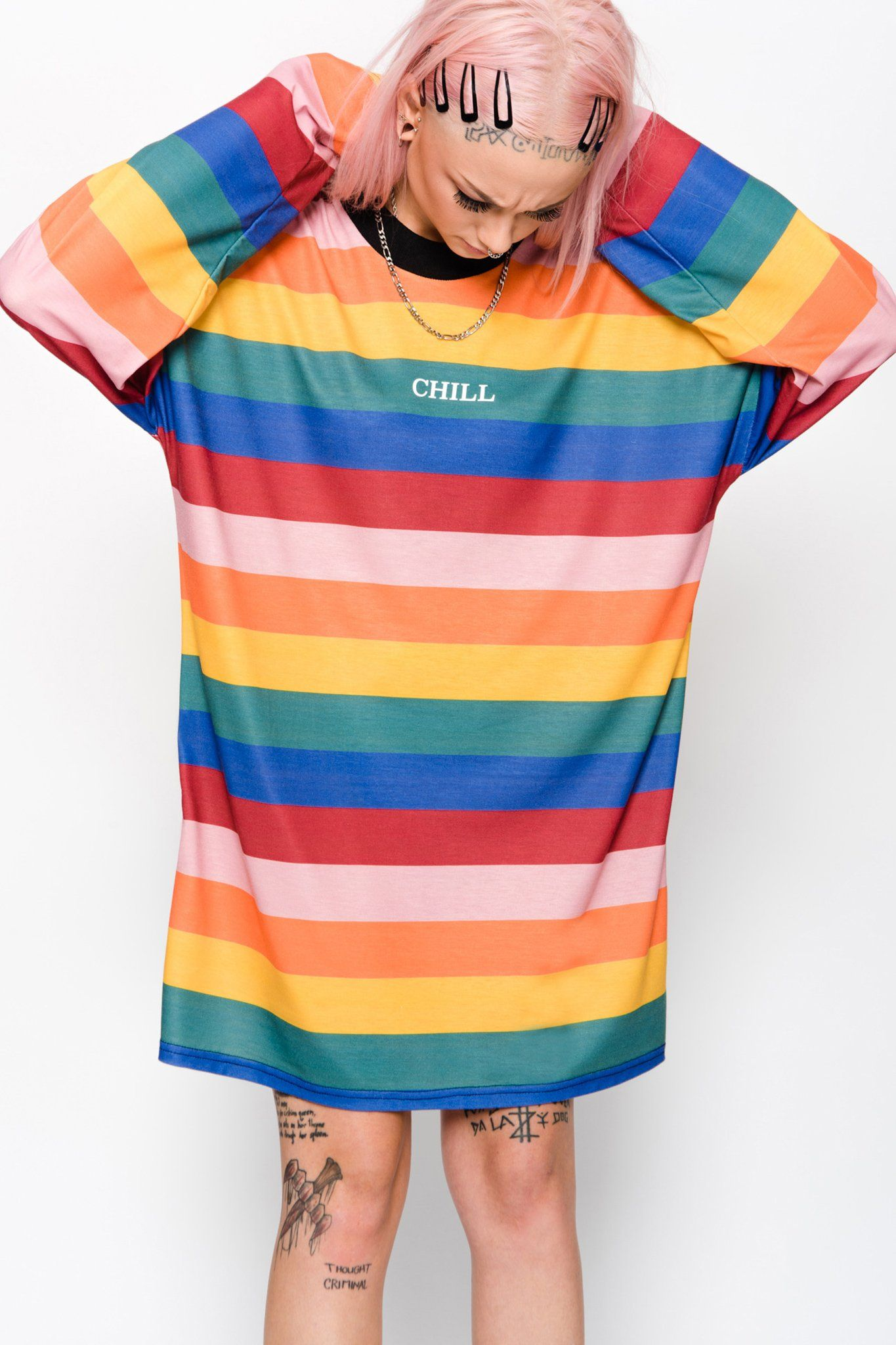 24ca0dfa9ff Charm Dress #theraggedpriest #rainbow #chill #charm #dress #pride  #longsleeve #boxy #goodbyebread