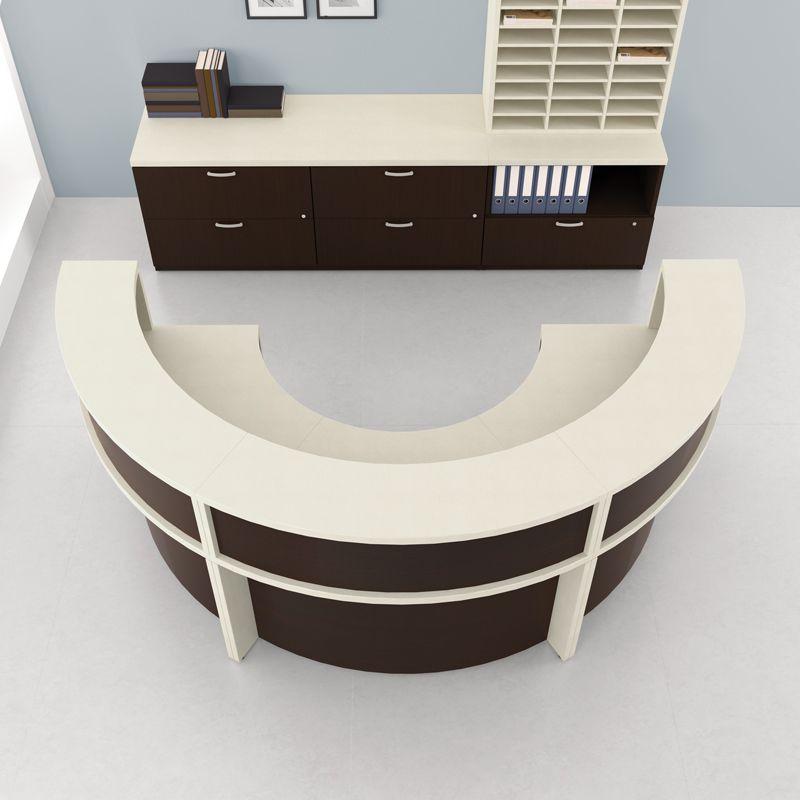 Semi Circular Desk Recepciones Oficinas Proyectos Escolares