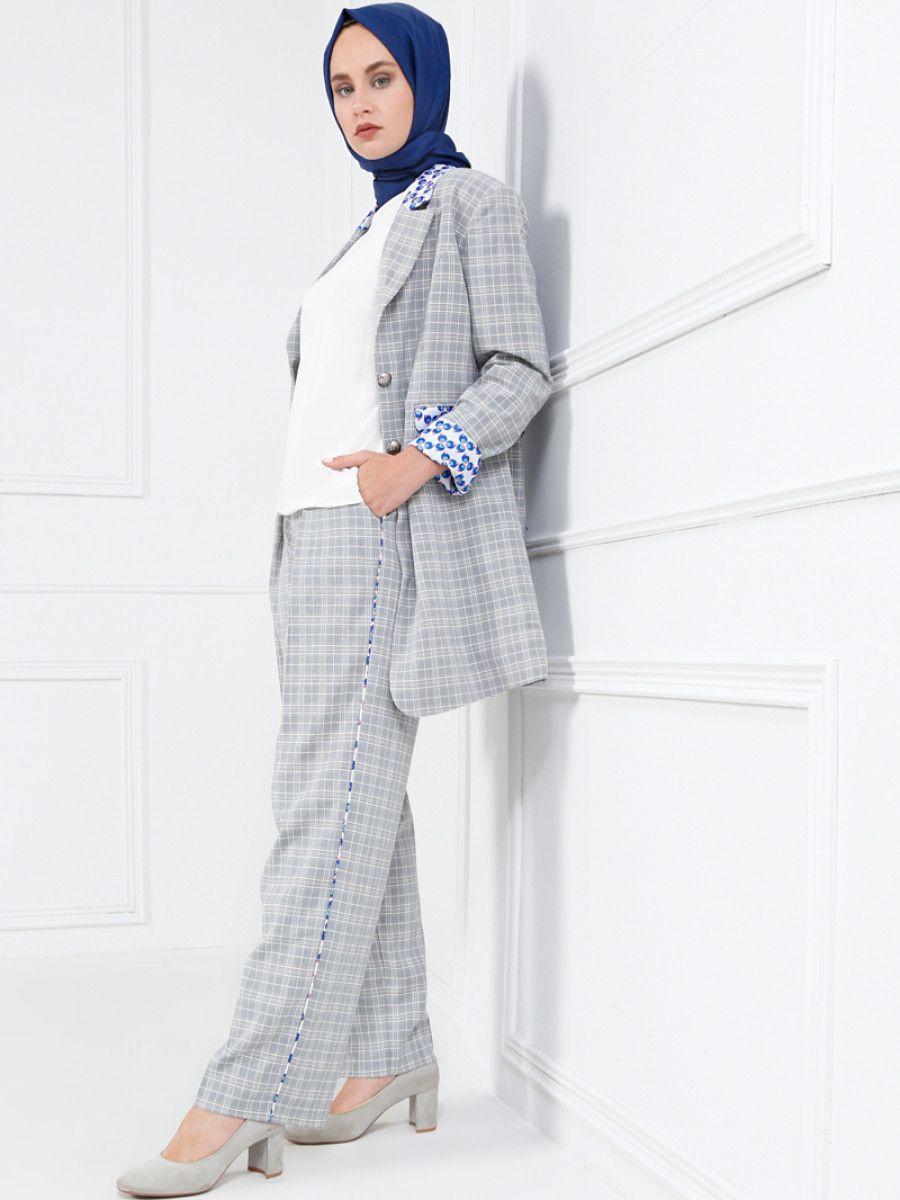 d800553460bd4 Refka Tesettür Ekose Pantolon Modelleri - Moda Tesettür Giyim ...