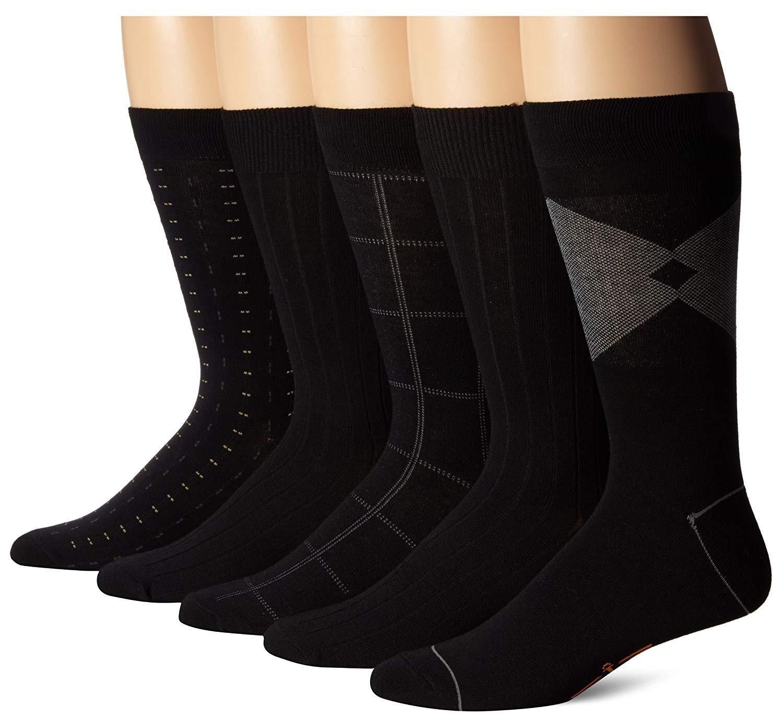 Youngate Mens Dress Socks 5 Pairs Colorful Patterned Crew Sock for Men Women