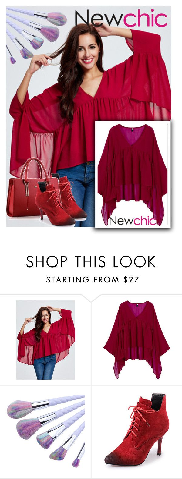 """Newchic"" by aida-ida ❤ liked on Polyvore featuring chic, New and newchic"