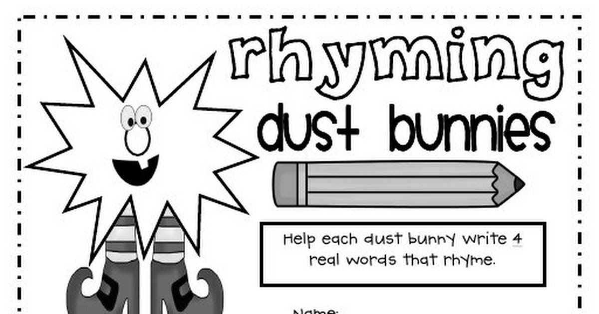 Rhyming Dust Bunnies Pdf A Fun Rhyming Activity For Kindergarten