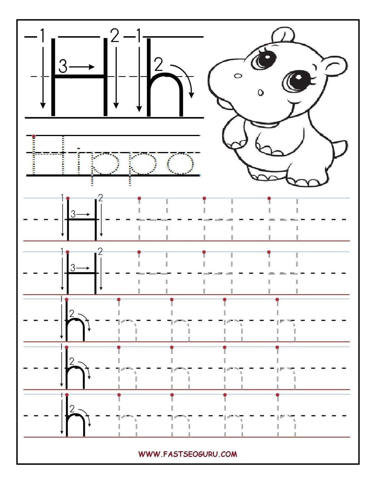 Letter H Worksheet For Kindergarten Worksheet For Kindergarten Tracing Worksheets Preschool Alphabet Worksheets Preschool Letter H Worksheets