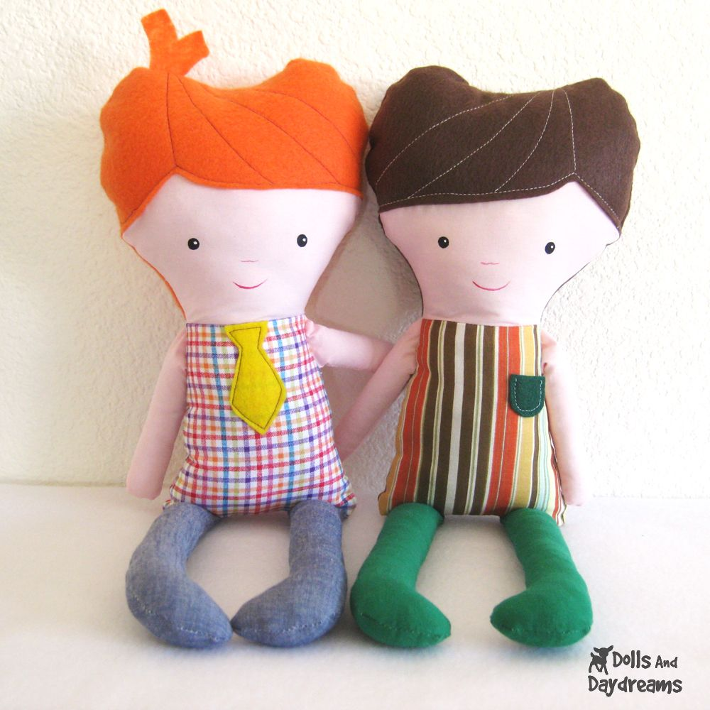Dolls And Daydreams - Doll And Softie PDF Sewing Patterns: Easy Boy ...