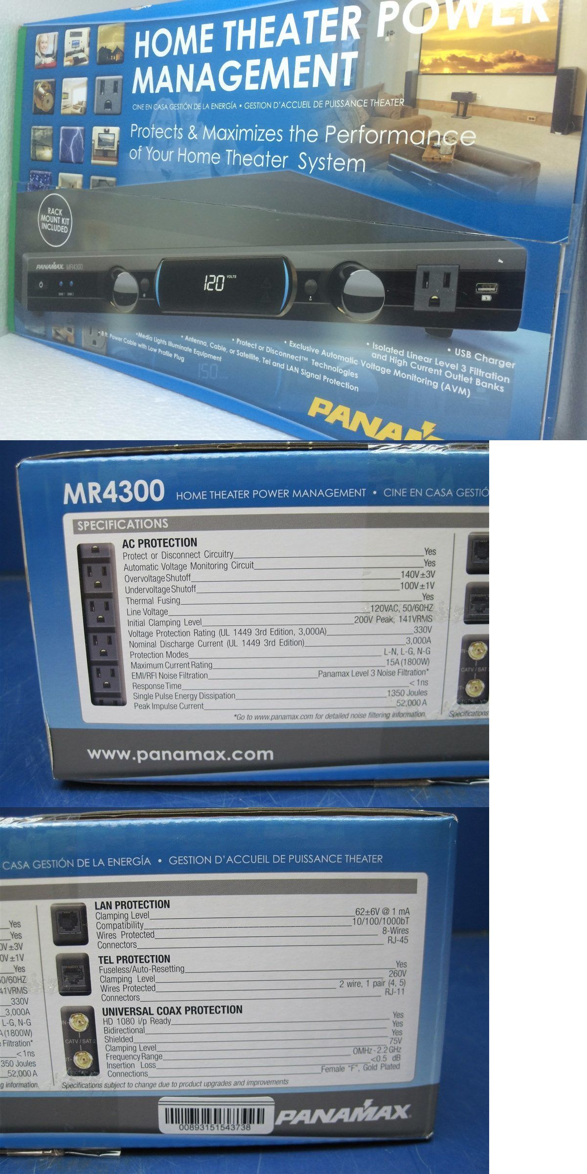 Surge Protectors Power Strips: Panamax Mr4300 Surge Lightning ...