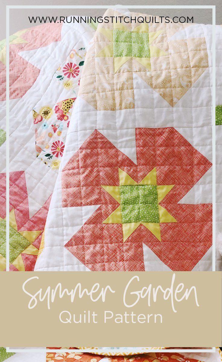 Summer Garden Quilt Pattern  Girl quilts patterns, Summer garden