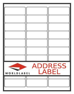 return address label our wl 25 same size as avery 5167