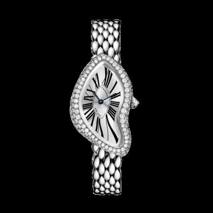 Cartier CRASH WATCH Manual, white gold, diamonds, inquire