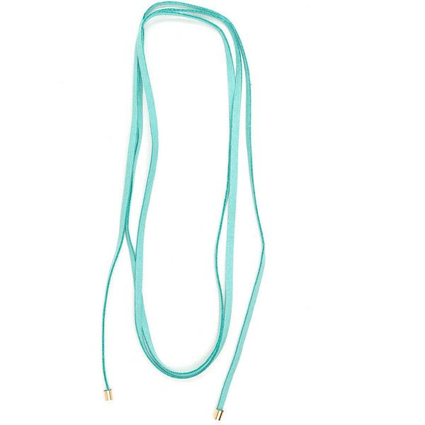 It's A Wraparound Faux Suede Necklace MINT ($4.50) ❤ liked on Polyvore featuring jewelry, necklaces, green, mint green necklace, wrap around necklace, green jewelry, mint jewelry and wrap jewelry
