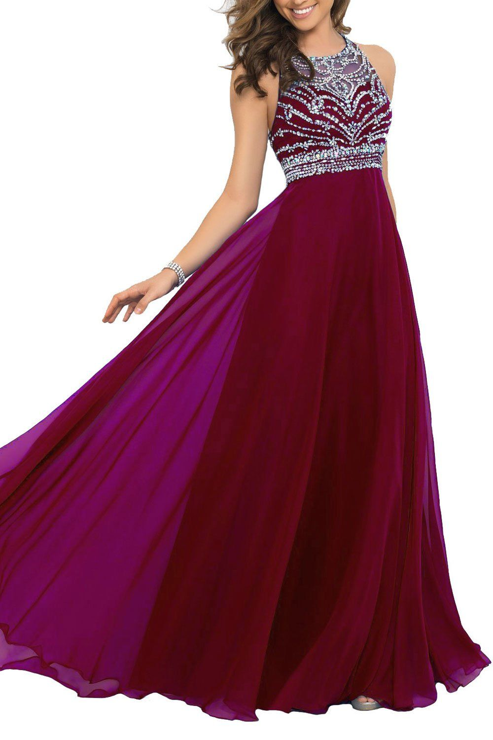233ae40e7d25 Artie Gorgeous A-line Floor Length Chiffon Prom Dresses Evening Dresses