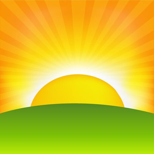 Set Of Sunny Day Vector Background 01 Sunrise Wallpaper Cartoon Background Sunrise Pictures