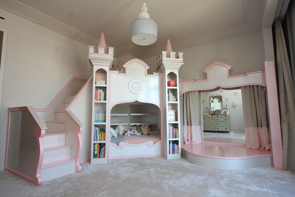 Beautiful Custom Deco Princess Castle Bed Designed With