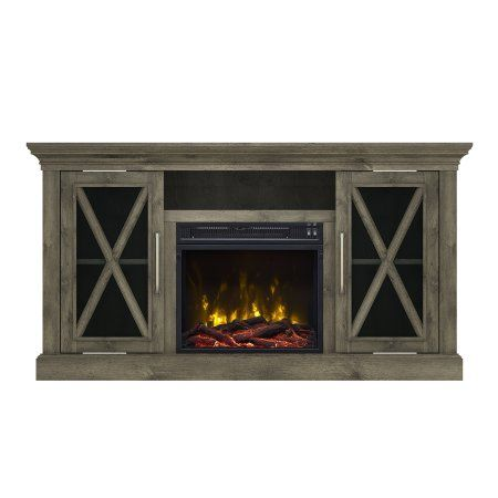 Gray Tv Stand With Fireplace Walmart