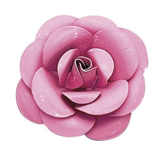 Small Metal Rose Magnet - Bright Pink - 1 Only