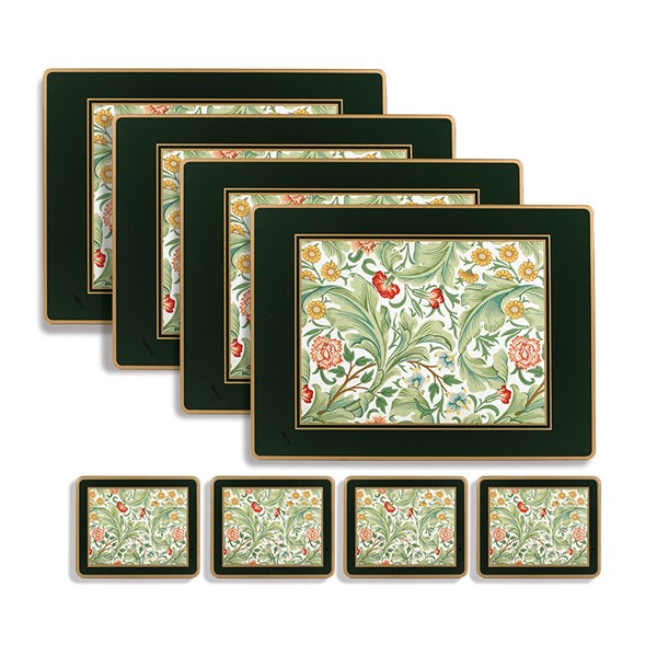 Leicester Green Mats Coasters Placemats Coasters Table Accents Tabletop Scullyandscully Com Green Mat Coasters Placemats