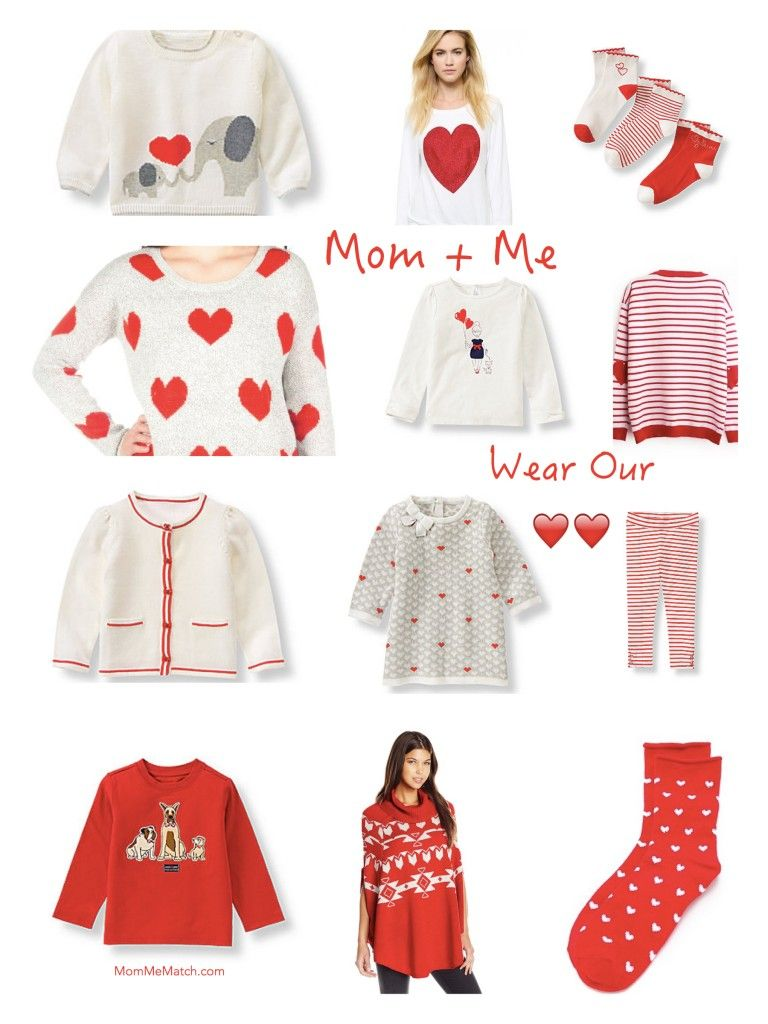 Mom and Me Wear Our Hearts | Valentine's Day | MomMeMatch.com
