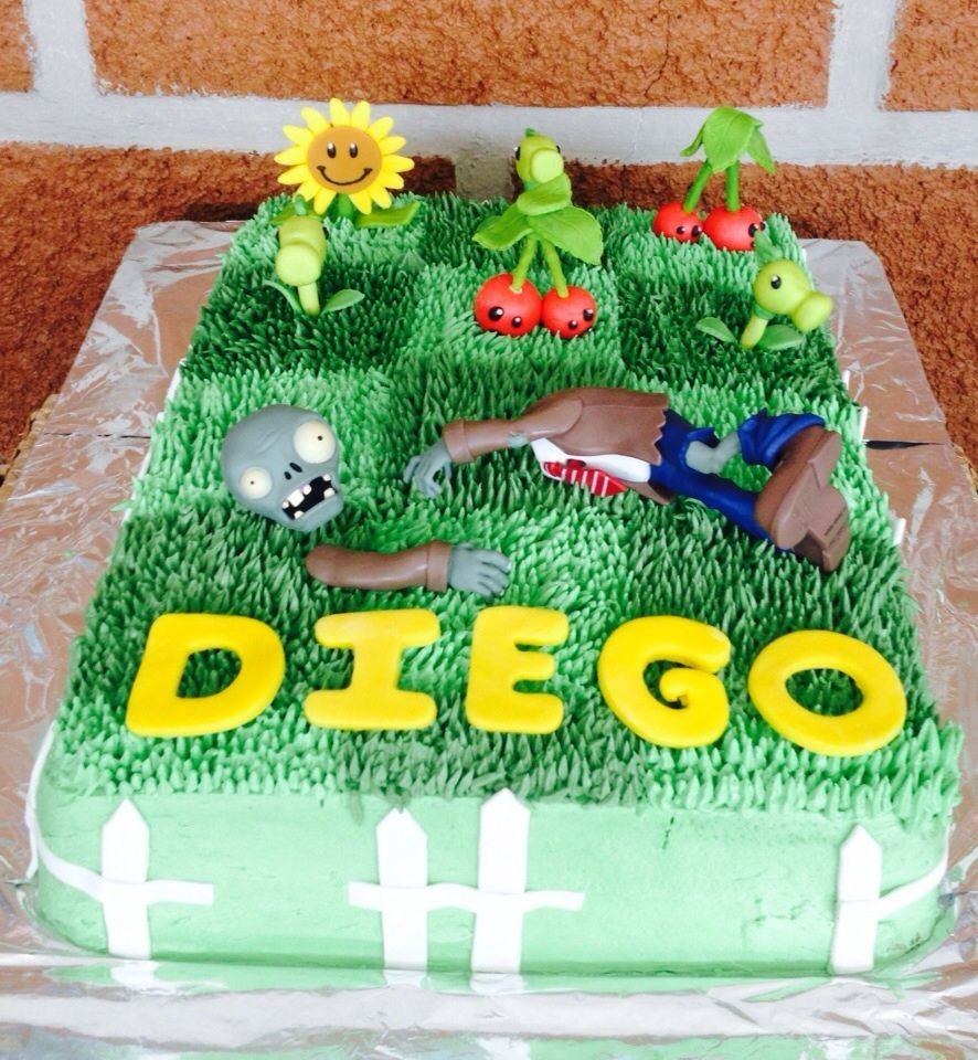 Plants Vs Zombies Cake Rico Pastel Kids Birthdays In