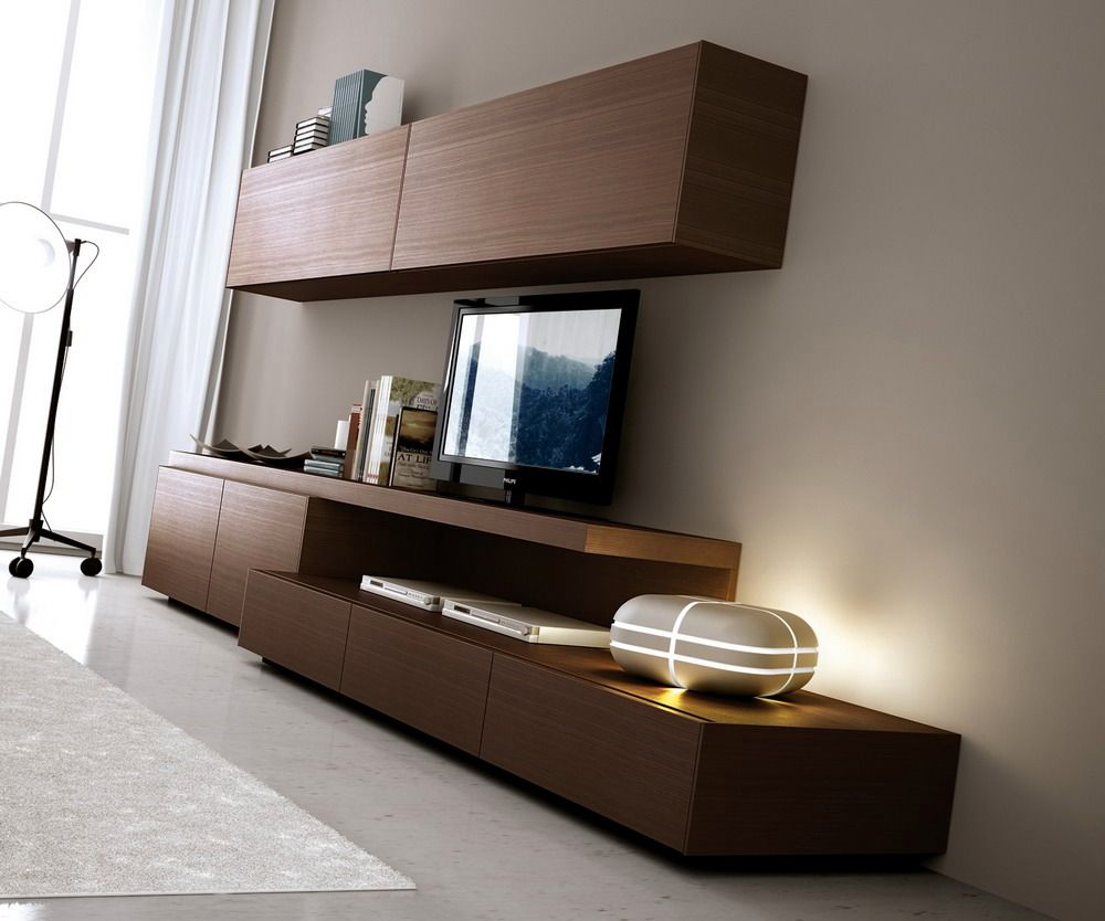 Mueble Modular Mesa Rack Tv Led 55 Pulgadas Progetto Mobili  # Muebles Rack Para Living
