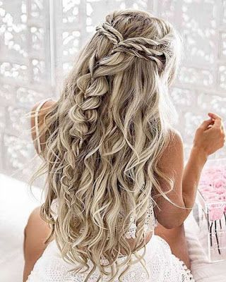 Peinados Para Fiesta De Noche Cabello Suelto Largo Buscar Con Google Hair Styles Wedding Hair Down Long Hair Styles