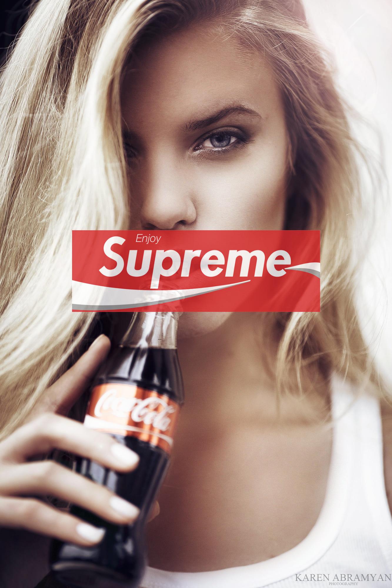 Supreme Coke Girl iPhone Wallpaper in 2019 Supreme