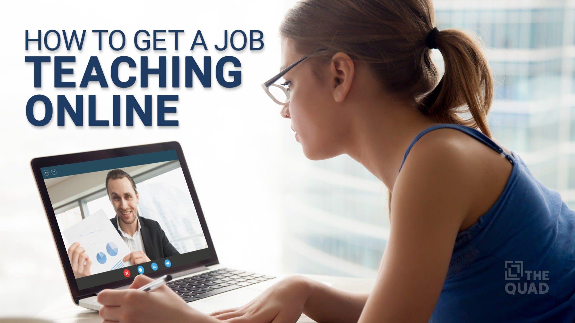 How To Get a Job Teaching Online   Online teaching, Online