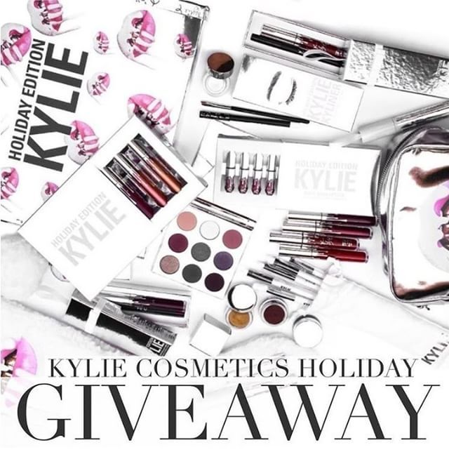 Enter To Win Kylie Cosmetics Giveaway Check Out Our Instagram Page Now Itgirlaccessor Kylie Cosmetics Holiday Collection Kylie Jenner Makeup Kylie Cosmetics