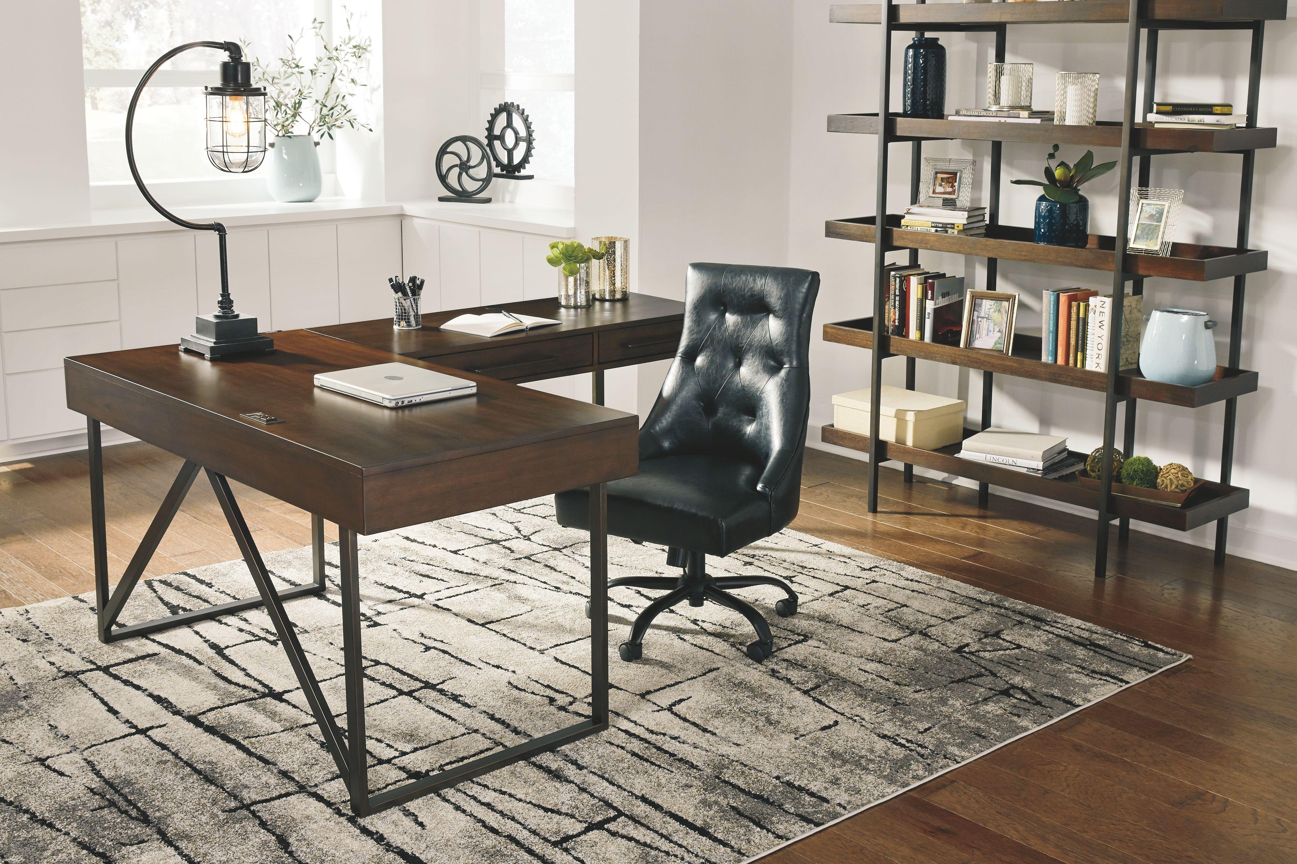 Starmore 2 Piece Home Office Desk Ashley Furniture Homestore Cheap Office Furniture Home Office Design Home Office Furniture