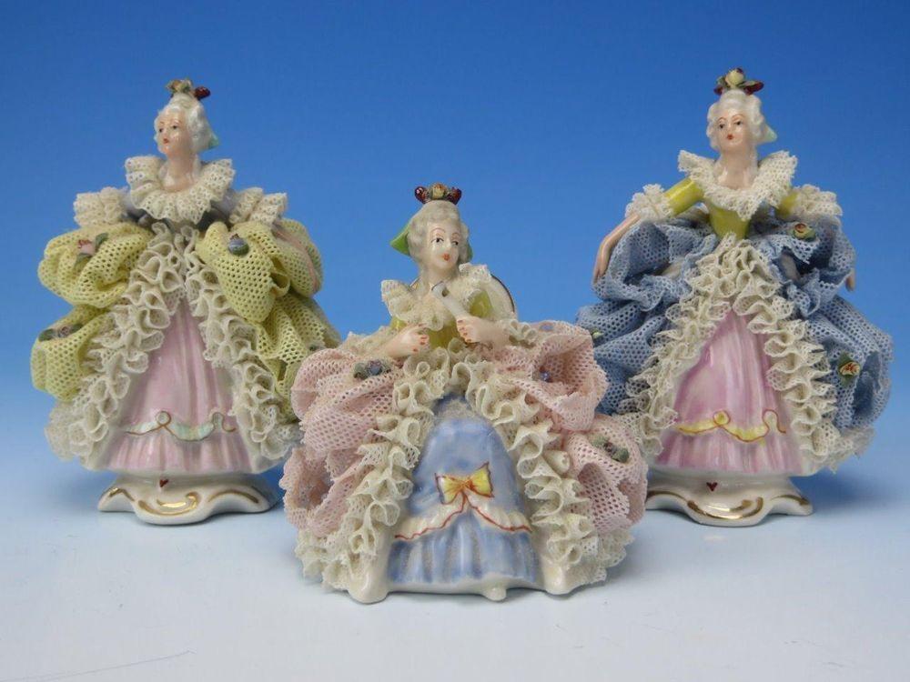 German+Dresden+Volkstedt+Lace+Porcelain+-+3+Victorian