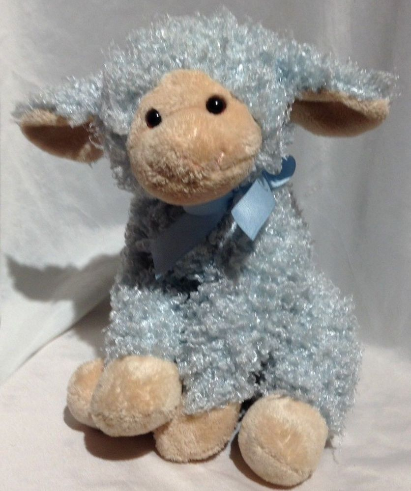 Plush Wind Up Musical Blue Lamb Jesus Loves Me Stuffed Animal Lovey