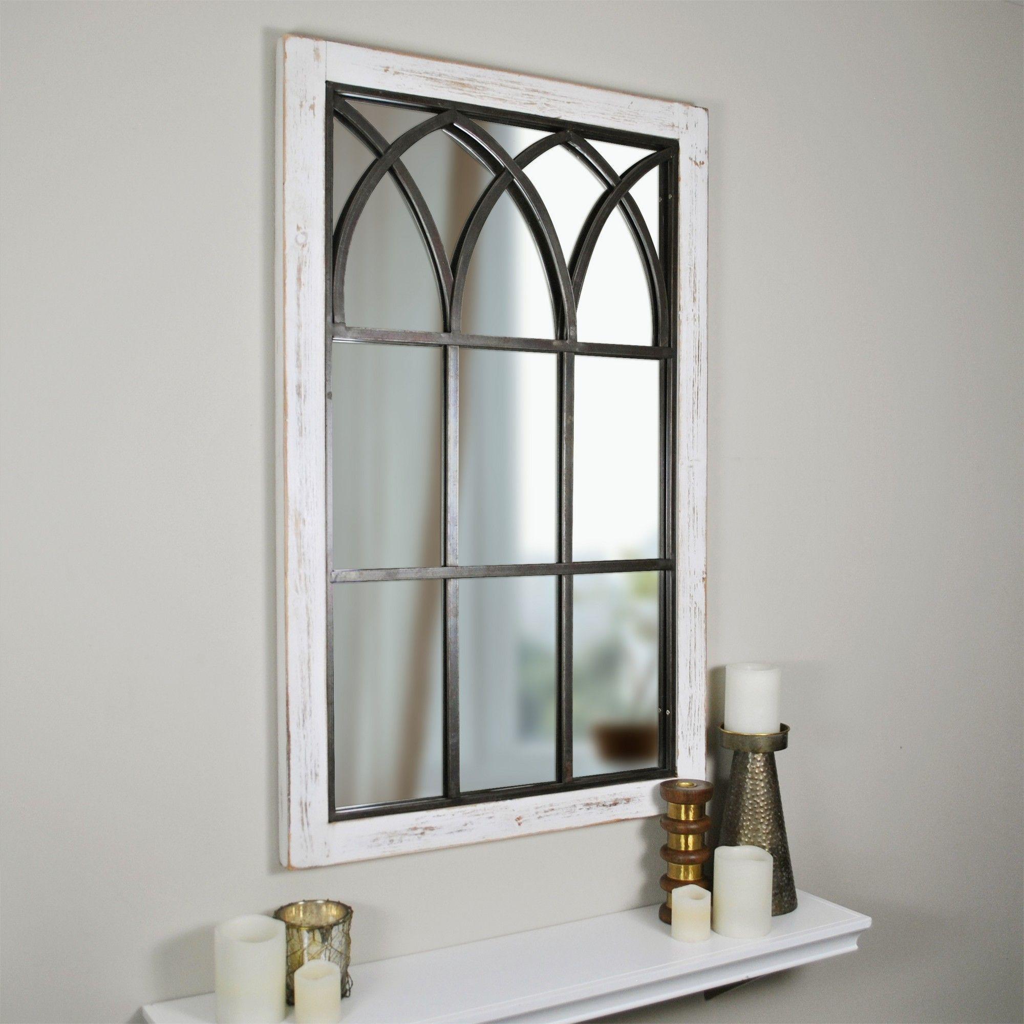 37 5 X 24 Vista Arched Window Mirror White Firstime Arched Window Mirror Window Mirror Arched Windows