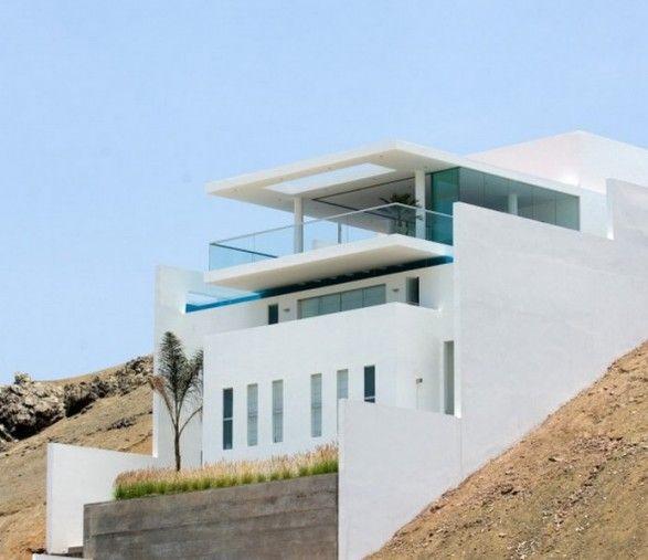 Modern hillside house plans House modern