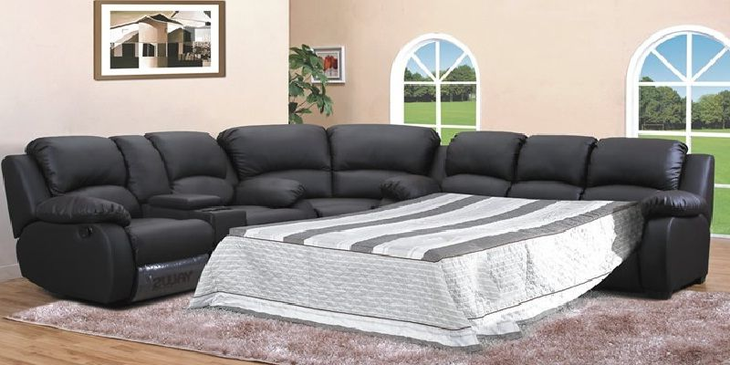 Leather Corner Sofa With Pull Out Bed With Images Leather Corner Sofa Corner Sofa Sectional Sleeper Sofa
