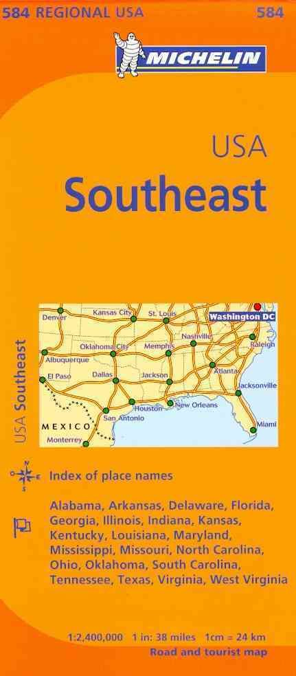 Michelin Map Southeast Us By Michelin Travel Lifestyle Cor - Map of southeast us