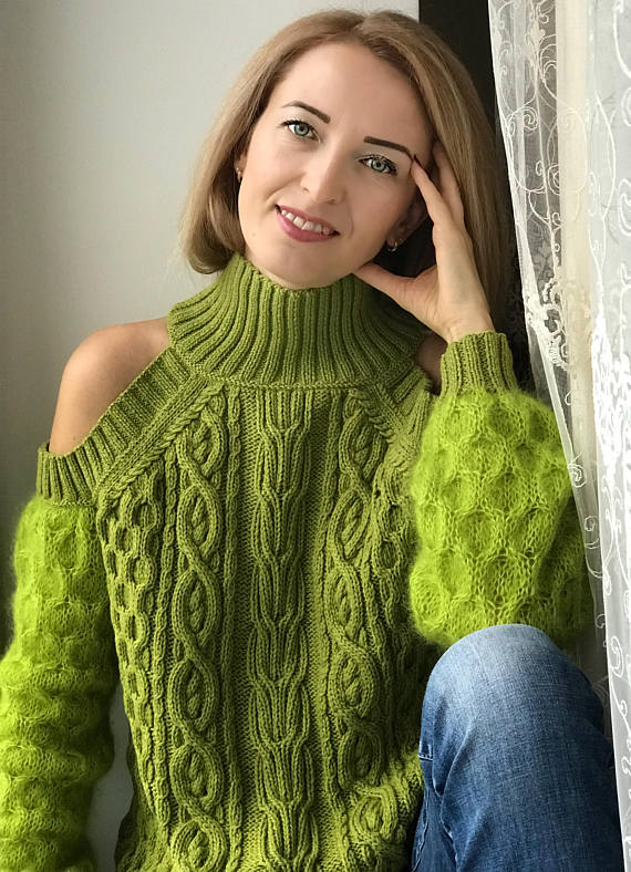 a2734d512 Wool and mohair sweater for women