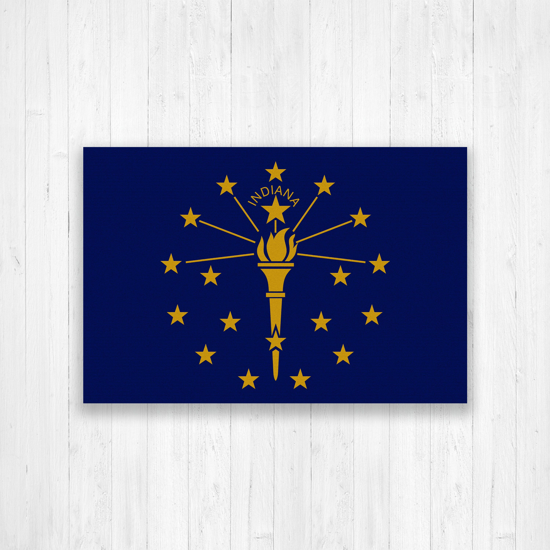 Indiana Flag Canvas Indiana State Flag Canvas Print Indiana Flag Large Canvas Wall Art Indiana Flag Print Large Canvas Wall Art Indiana Flag Hexagon Canvas
