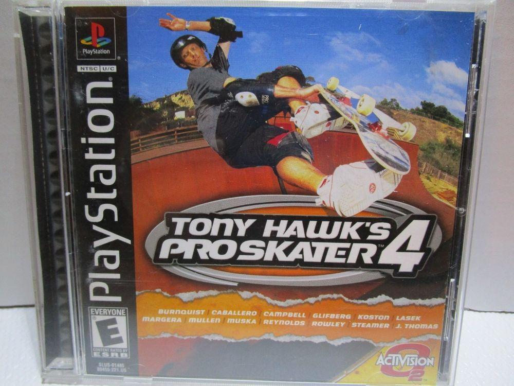 Ps1 tony hawks pro skater 4 sony playstation 1 2002