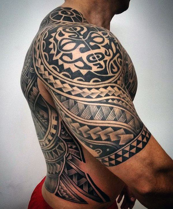 The Ultimate Collection Of Ta Moko: 75 Half Sleeve Tribal Tattoos For Men