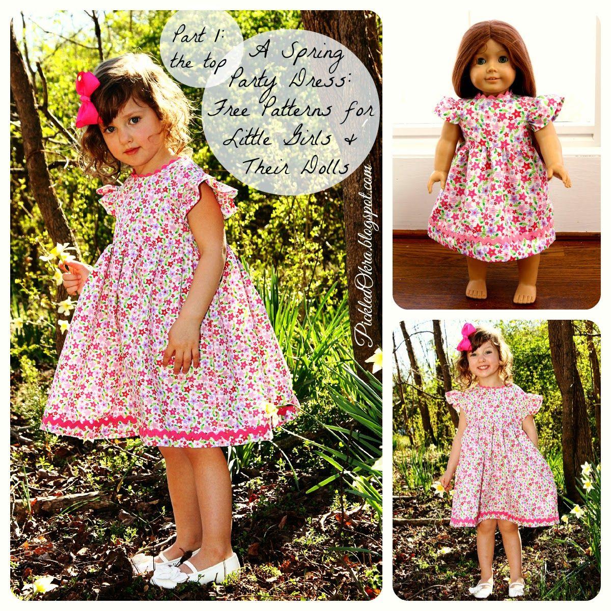 Kleid für Mädchen / Puppenmamas (2-4T) und die Puppe (18 inch) nähen ...