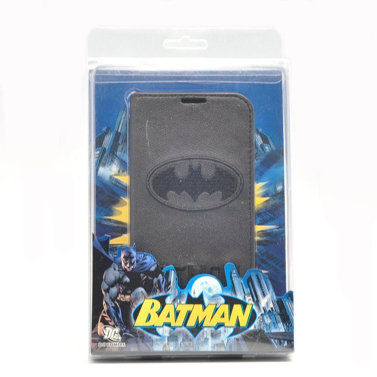 Authentic 86hero dc comic batman leather flip