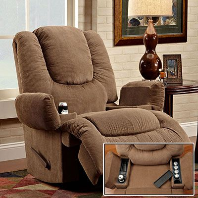 Stratolounger 174 Tailgater Bronson Rocker Recliner With Heat Amp Massage At