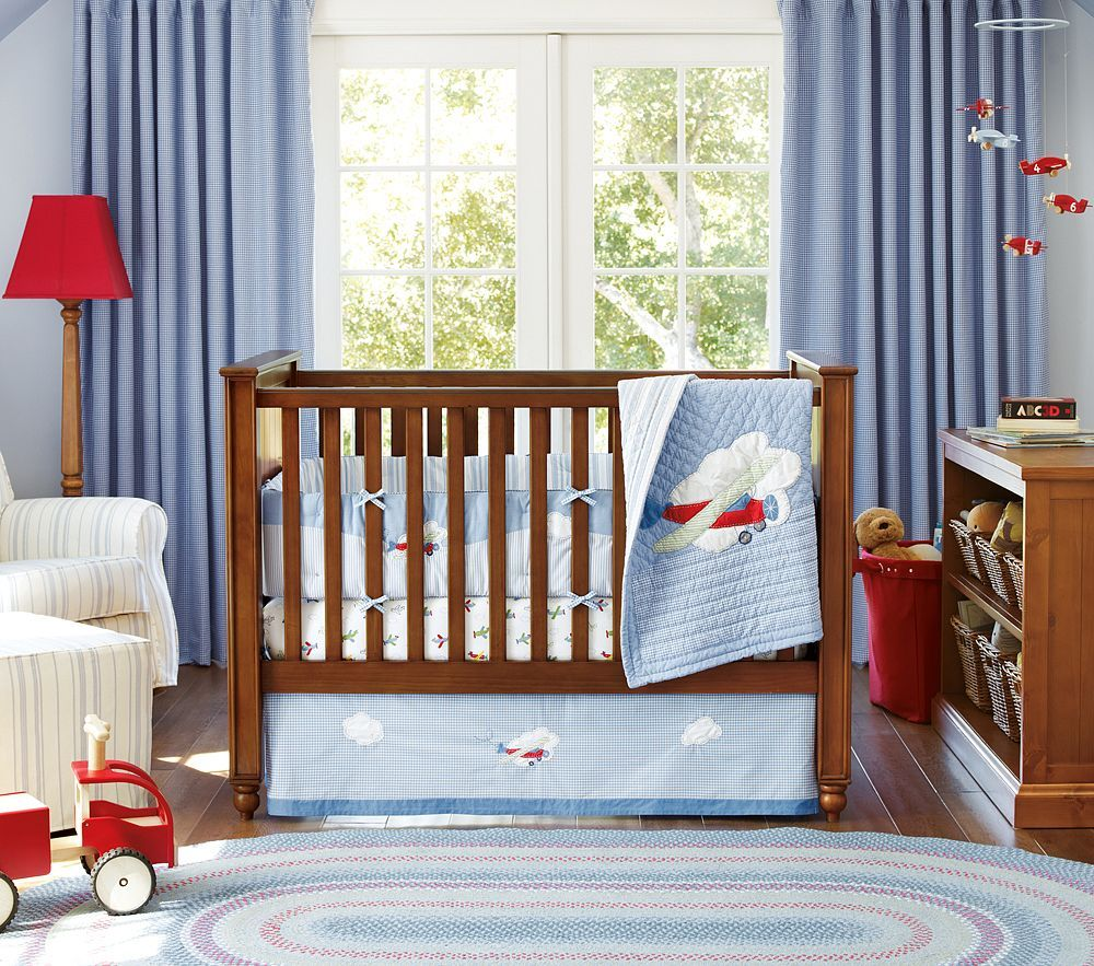 Pottery Barn Kids Baby Little Planes Bedding Google Search Decor Pinterest Airplane Nursery And Themed
