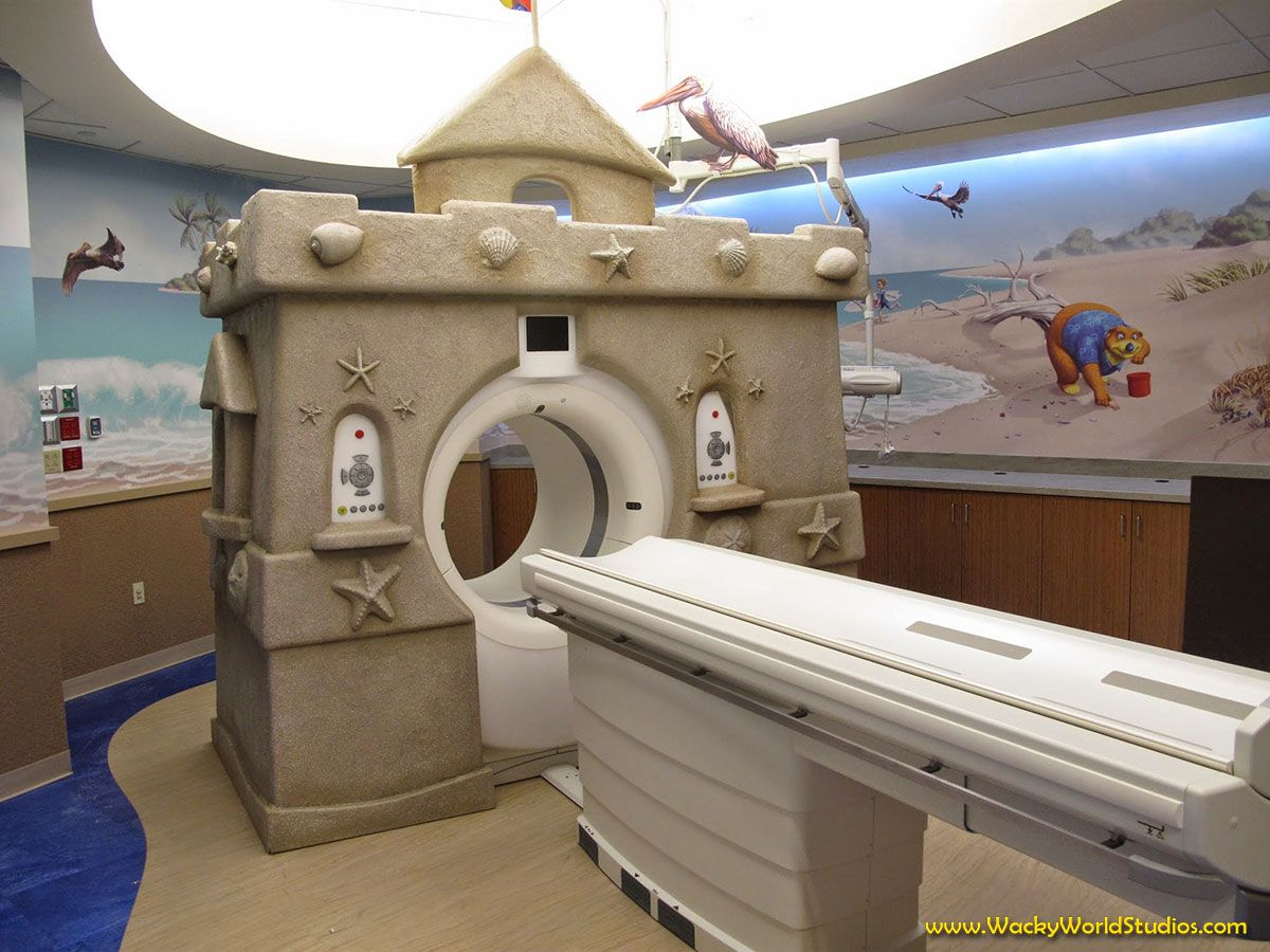 3D Sculpted Sandcastle wrapped MRI Machine! Get your own