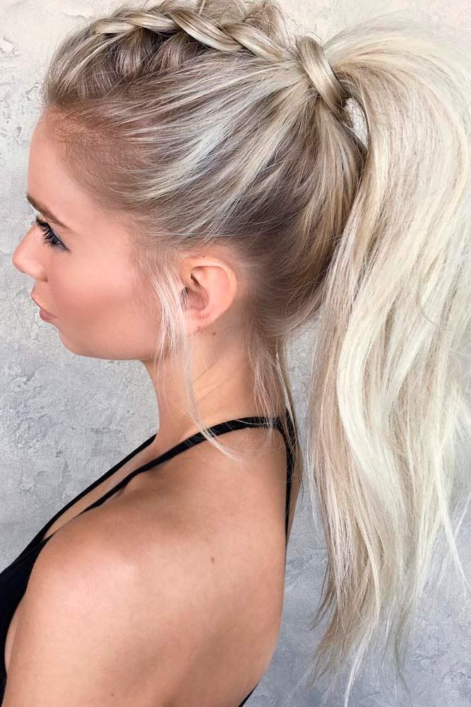 Ponytail Hairstyles Wear These 36 Sporty Ponytail Hairstyles To The Gym  Pinterest