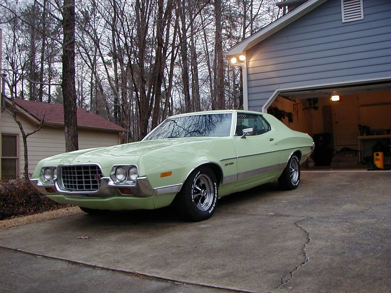 This 1972 ford gran torino is the first car i paid for myself mine was