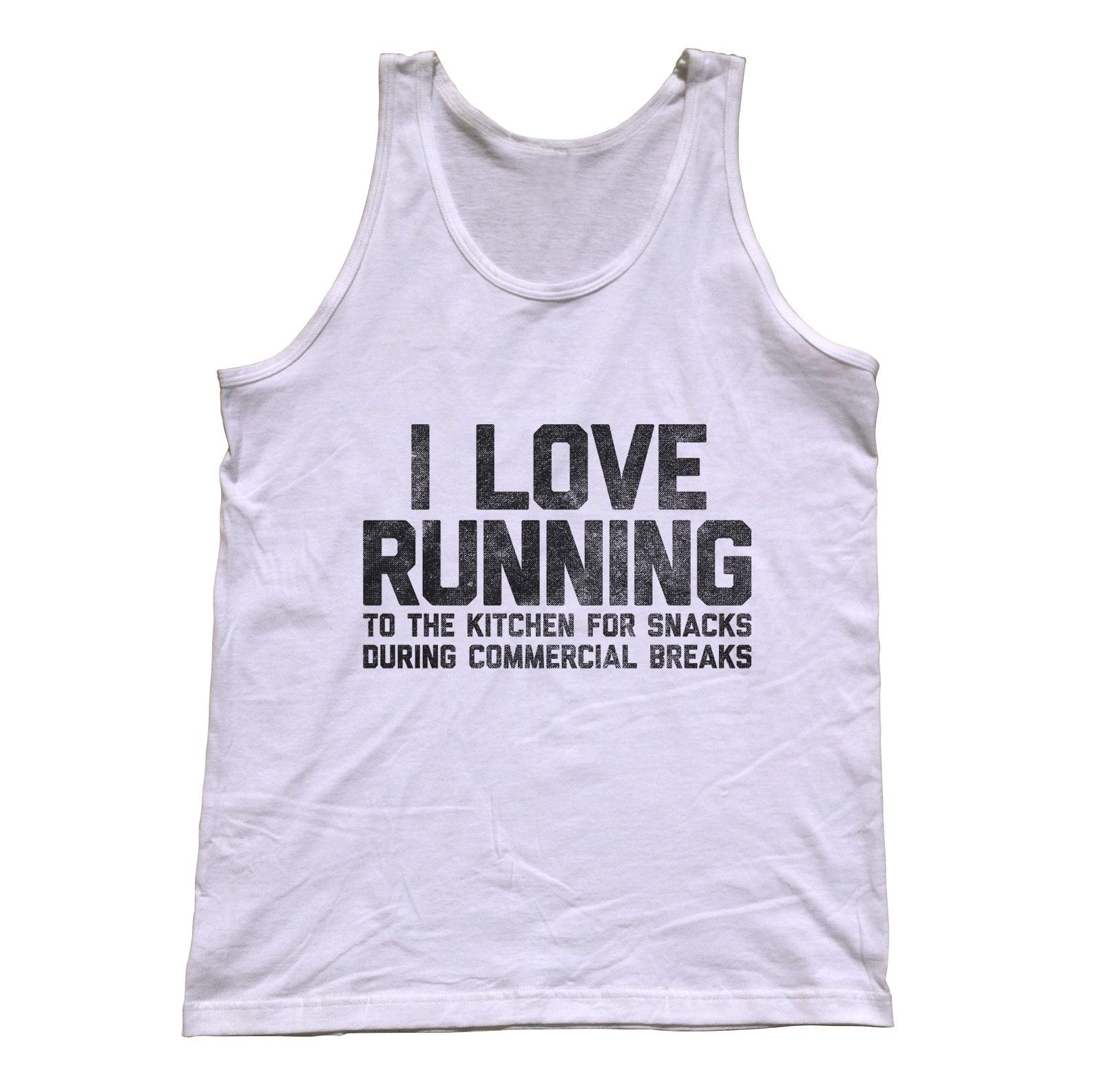 uni i love running to the kitchen for snacks tank top tops