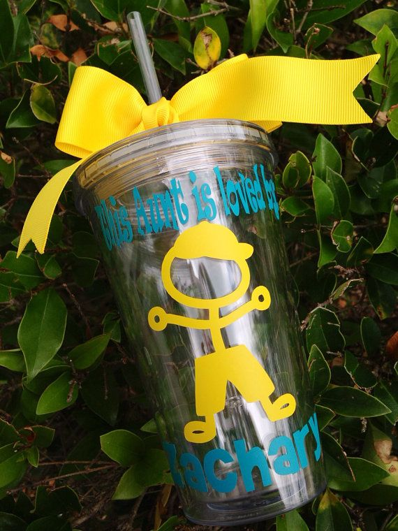 Personalized Tumbler from child 'This AUNT, GRANDMA, GRANDPA... is loved by' Gift on Etsy, $15.25