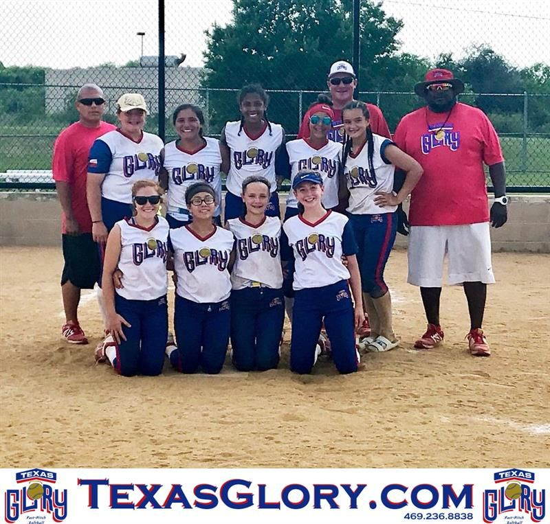 The 14U Texas Glory CTX team earned first place in the 3rd