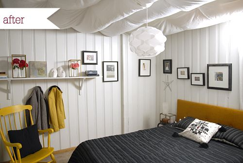Photo of Before & After: Melissa's Budget Basement Bedroom